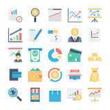 Market and Economics Colored Vector Icons 3 Stock Images