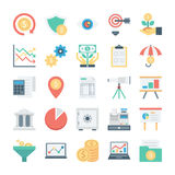 Market and Economics Colored Vector Icons 2 Stock Image