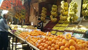 A market in Egypt. A fruit market in Egypt. All kind of stuffs sell here Royalty Free Stock Images