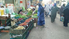 A market in Egypt. A vegetable market in Egypt. All kind of stuffs sell here Stock Photography