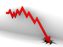 Market fall diagram Stock Photography