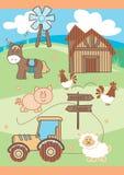 Market farm. Animals in a farm scene Stock Photo