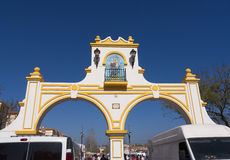Market at the Feria Ground in Fuengirola on the Costa del Sol Spain Stock Photography