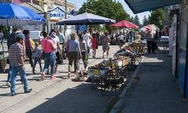 Market in fetesti. Market along the streets of Fetesti, a city north of Moldova royalty free stock photography