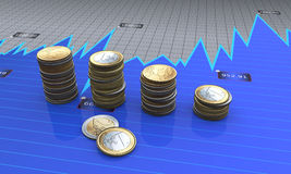 Market financial diagram Stock Photo