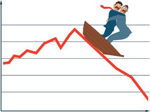 Market fluctuation Stock Image