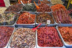 Market Food in korea Royalty Free Stock Images