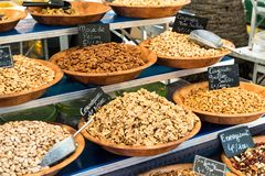 Market. Food on a Market stall Stock Photography