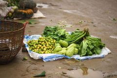 Market on the foor. Local market in poor city put every thing oa the foor royalty free stock photo