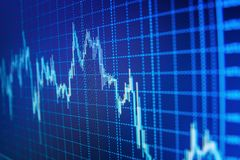 Market or forex trading graph and candlestick chart suitable for financial investment concept. royalty free stock photography