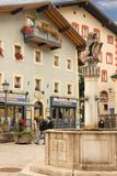 Market Fountain. Berchtesgaden.Germany Stock Image