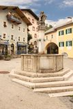 Market Fountain. Berchtesgaden.Germany Stock Images