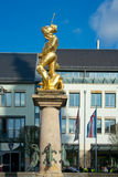 Market fountain showing St. George, Eisenach, Germany Royalty Free Stock Photos
