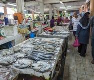 Market. Fresh fish market scene early morning Stock Image