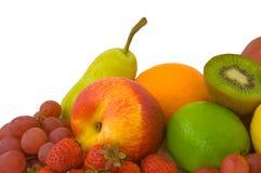 Market Fresh Fruit. Selection of market fresh fruit isolated on white background Royalty Free Stock Photo