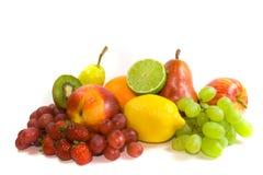 MArket Fresh Fruit. Selection of market fresh fruit isolated on white background Royalty Free Stock Photos