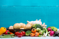 Market fresh vegetables on table Stock Photography