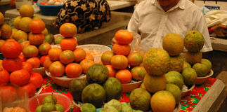 Market fruits and vegetables. Merida Messico royalty free stock photo