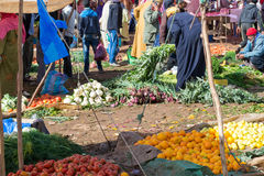 Market of fruits and vegetables in Morocco Royalty Free Stock Images