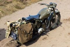 Market Garden. EDE, NETHERLANDS - SEP 22: British Army Matchless G3L motorcycle at the Market Garden memorial on Sep 22, 2012 near Ede, Netherlands. Market Royalty Free Stock Photography