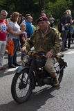 Market Garden soldier motorcycle Royalty Free Stock Photography