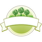 Market garden signet. Gardening label Stock Image