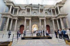 Market Gate of Miletus. BERLIN, GERMANY - SEPTEMBER 28: Pergamon Museum, Market Gate of Miletus, on September 28, 2013 in Berlin, Germany Stock Image