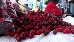 Market in Georgetown in Guyana stock video footage
