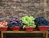 Market grapes. Grapes for sale at a street grocery royalty free stock photo