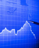 Market graph royalty free stock images
