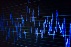 Market graph on computer screen. Finance data on computer screen. Stock market on-line Royalty Free Stock Photography