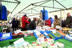 Market Greengrocer, Bakewell, Derbyshire. Stock Photo