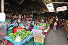 Market and grocery stores. Market and grocery stalls commonly found in Thailand and other Asian countries selling various food ingredients and daily necessities Royalty Free Stock Photography