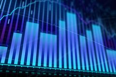 Market growth, finance and economy concept. Creative glowing forex chart background. Market growth, finance and economy concept. 3D Rendering Royalty Free Stock Images