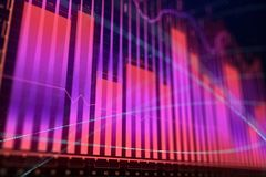 Market growth, finance and investment concept. Creative glowing forex chart background. Market growth, finance and investment concept. 3D Rendering Stock Photos