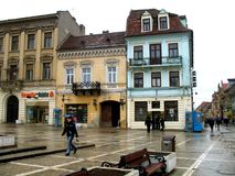 Market hall in Brasov Stock Image