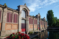 The market hall in the city Colmar in France Royalty Free Stock Photo