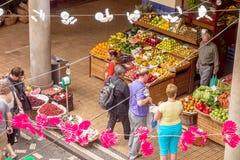 Market hall, Funchal, Madeira - exterior view Stock Photos