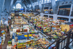 Market hall in Wroclaw, Poland Royalty Free Stock Images