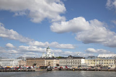 Market and harbor front of helsinki Royalty Free Stock Images