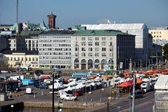 Market in helsinki Stock Photo
