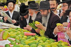 The market before the holiday of Sukkot Royalty Free Stock Photos