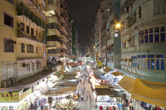 Market in Hong Kong at night Royalty Free Stock Photos