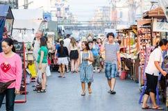 Market HUAHIN, Thailand. Stock Photo