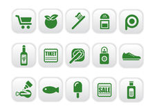 Market icons Royalty Free Stock Photos