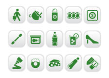 Market icons Royalty Free Stock Images