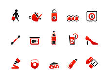 Market icons. Vector illustration of food and market icons Stock Photography