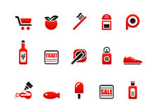 Market icons Stock Photos