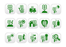 Market_icons_green_two Royalty Free Stock Photos