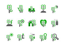 Market_icons_green_two Stock Photo